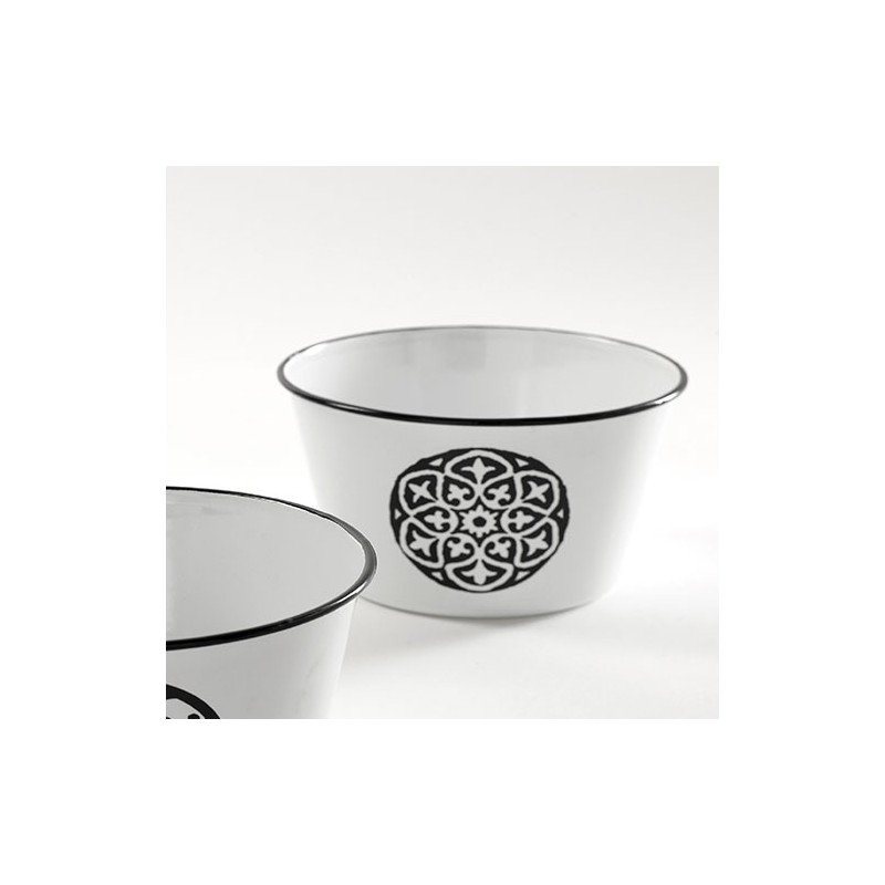 Cache pot conique mail noir et blanc plante d coration for Pot deco cuisine