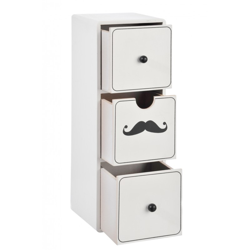 jolie armoire moustache vintage noir et blanche id e cadeau no l. Black Bedroom Furniture Sets. Home Design Ideas