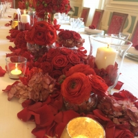 centre de table chic rouge