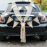 mariage voiture vintage just married