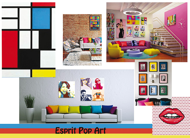 ozhome esprit d co style pop art. Black Bedroom Furniture Sets. Home Design Ideas